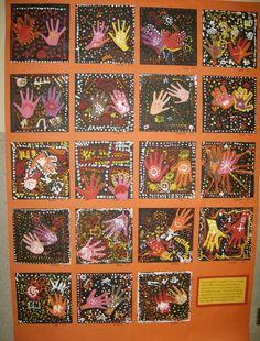 aboriginal hand printing