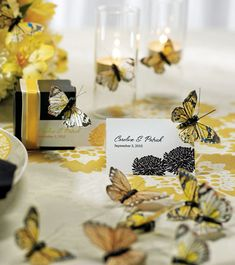 Some great ideas for a butterfly theme Wedding
