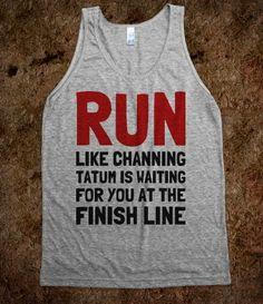half marathons, fitness, adam levine, channing tatum, tank, first place, finish line, running motivation, shirt