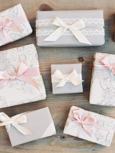 favor box, bridesmaid gifts, pretty gift wrapping, bow