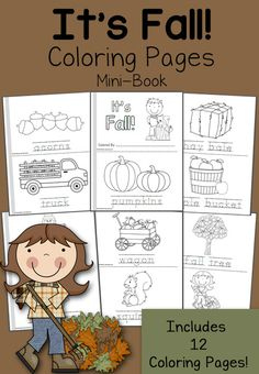 In this FREE 12-page mini-coloring book, from Mamas Learning Corner, you'll find:  'It's Fall!'