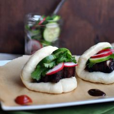 Caramelized Pork Belly Buns on Homemade Steamed Buns