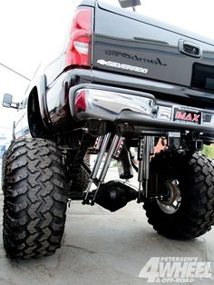 big trucks & big wheels.