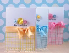 Cute as a Button by Clear and Simple - Cards and Paper Crafts at Splitcoaststampers