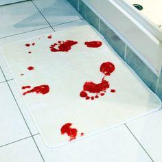 Bathmat when it gets wet, it turns red
