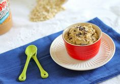 Not only does this dip taste like peanut butter cookie dough, it's a surprisingly healthy snack too!