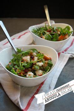 Pear Cranberry Arugula Salad