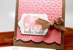 Stampin' Up! Baby Card by Creativity Within : Hello Baby