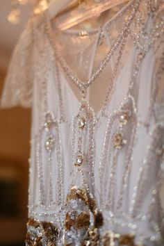 gold and pearl wedding dress from Jenny Packham