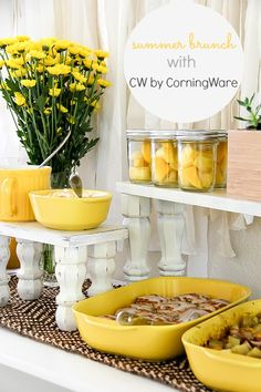 Very Yellow Summer Brunch Ideas with CW by CorningWare™ #CWColor #ad #brunch