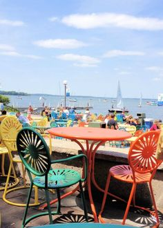 Memorial Union Terrace, Madison, Wisconsin it's about that time