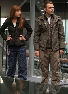 Fringe Division's Olivia and Lincoln. Their dress code is more casual/utilitarian.