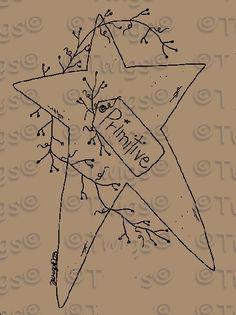 Free prim Sampler Patterns | Primitive Patterns - Stitcheries - Hearts and Stars - Primitive Star ...