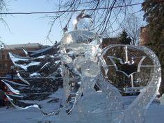 batman ice sculpture