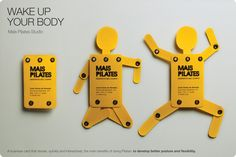 """Mais Pilates Studio: """"Wake Up Your Body Business Card"""" Print Ad  by Marketdata Direct & Digital"""