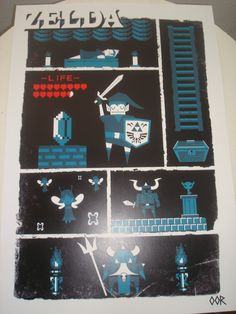 Zelda poster print 13 x 19 by EscapeCapsule on Etsy, $10.99