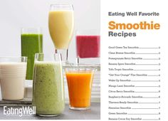 Download a free cookbook of our Favorite Healthy Smoothie Recipes from @EatingWell Magazine. #smoothie #recipe #cookbook