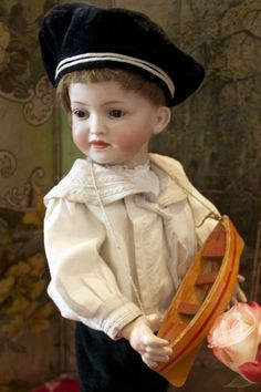 """Great Character Boy by Hertel & Schwab """"141"""" ( on hold for E.)  Precious Toys Exclusive to Ruby Lane"""