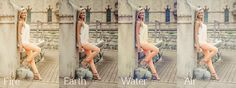 Free Photoshop and Elements Element Fire Earth Water Air Actions Color