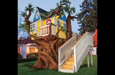 Victorian Tree House or Playhouse with by MonsterCityStudios, $69010.00 (let me just go crack open my piggie bank..)