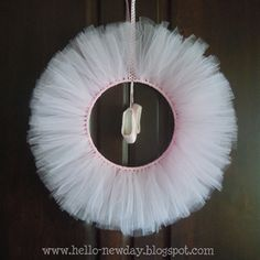 Tulle Ballet Wreath - Dance Teacher Gift Idea