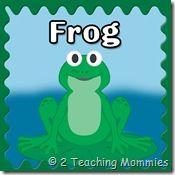 Frog preschool unit printables