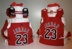 Michael Jordan Diaper Cake www.Tangelasdiapercakes.com