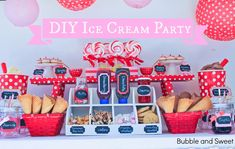 Make Your Own Ice Cream Party perfect for boys or girls