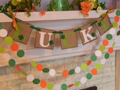 St Patricks Day Decorations LUCKY St by anyoccasionbanners on Etsy, $14.00