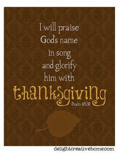 FREE Printables - Thankful, Thanksgiving printables, fall printables, bible verse printables ~ DelightCreativeHome