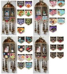 All of the Scrapbook Memories Beaded Photo Frame Ornaments by Deb Moffett-Hall aka Patterns to Bead