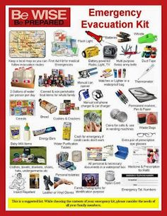 What you need for the 1st 72 hours after an emergency. Prepare your family for disaster. 72 hour kit idea, emerg kit, surviv, red cross, families, prepared, emergency kits, emerg evacu, evacu kit