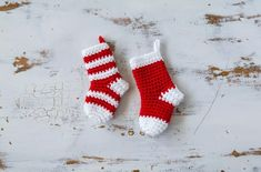 Crochet Mini Stockings Christmas Ornament
