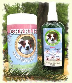 Charlie's All Natural Insect Repellent Wipes For Dogs -uses natural rosemary and peppermint