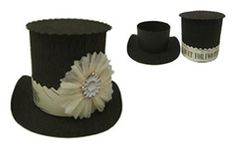 Wendy Addison Original. Handmade Top Hat paper/crepe paper wedding container- by Tinseltrading flickr