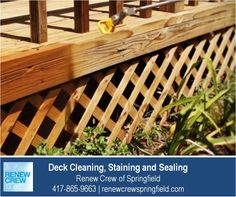 http://renewcrewspringfield.com/deck-cleaning-staining-sealing/ – Spraying on the deck stain and sealant after a complete cleaning ensures even application and consistent color. It also allows the sealant to reach awkward corners and crevices. All Renew Crew of Springfield products are safe for your plants, kids and pets. We serve Springfield MO plus Greene, Christian, Webster, Polk and Dallas Counties. Free estimates.