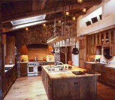 studio, house tours, mountain, rustic kitchens, kitchen photos, gorgeous kitchen, kitchen designs, dream kitchens, full house