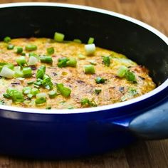 I think Canadian Bacon is perfect to use in egg dishes because it's lean but flavorful, and I love this Frittata with Canadian Bacon, Green Onions, and Cheese. [from Kalyn's Kitchen] #LowCarb #SouthBeachDiet #GlutenFree #CanadianBacon