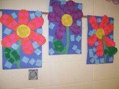 Kindergarten Art Flowers( art teacher: v. giannetto)