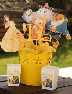 Disney Princess Party Centerpiece Beauty and the by CreatedToPlay, $25.00 Anyone wanna do this for my birthday??? Lol