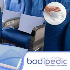Stay comfortable while traveling with this bodipedic gel molded travel pillow.  #travel #pillow