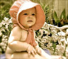 Baby Prairie Bonnet pdf pattern and tutorial  by civilwarlady, $4.99