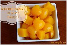 COCOMANGOgummies paleo gummies, coconut mango, paleo fruit snacks, coconut milk, mango gummi, coconut water, gummi snack, paleo recipes snacks, gummi treat