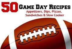 50 Game Day Recipes - Appetizers, Dips, Slow Cooker Recipes & More! - Sincerely, Mindy