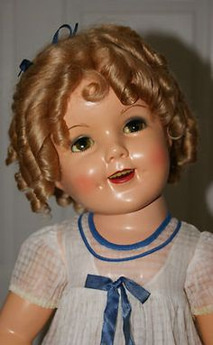 """*SHIRLEY TEMPLE ~ Vintage Ideal 27"""" Compo. HTF Flirty Eyes"""