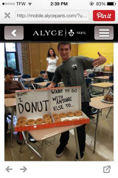 Because every girl loves donuts & loves being asked to prom