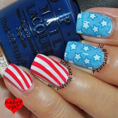 easy memorial day nail art