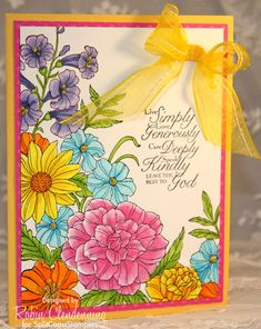 F4A BRIGHT FLORAL by Stamperrobin - Cards and Paper Crafts at Splitcoaststampers Stampin' Up! Blendabilities