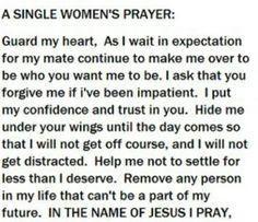 Single Women's Prayer