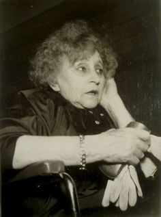 """Colette at the 'Premiere' of the movie about her, """"Colette"""" (Yannick Bellon, 1951) -by Robert Cohen"""